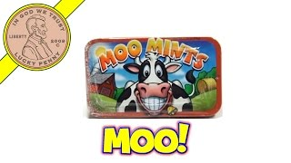 Moo Mints Candy Tin - Tipping Can Moo Cow Toy