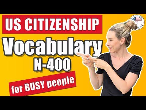 N-400 VOCABULARY Definitions For BUSY People | US Citizenship | VOCABULARIO FACIL PARA LA ENTREVISTA
