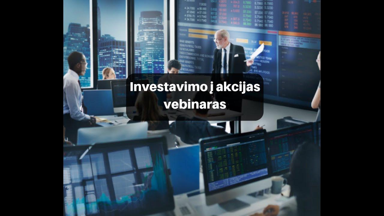 akcijų prekybos strategija youtube