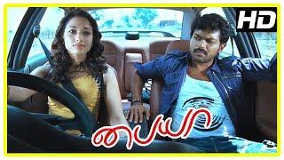 Paiya Tamil Movie Scenes | Tamanna helps Karthi with the car | Tamanna | Karthi | Lingusamy