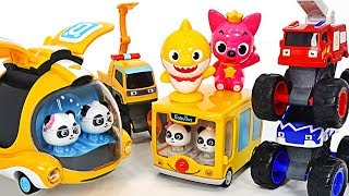 Babybus and Baby Shark Fire truck, Police car and Ambulance dispatch! Arrest the villains!
