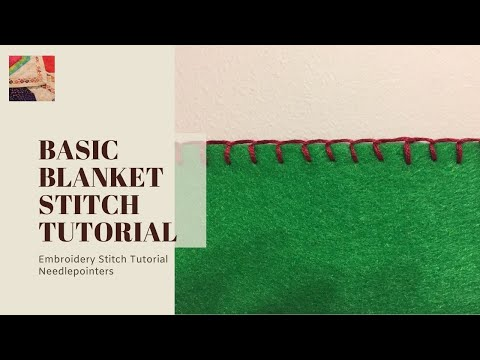 Blanket Stitch - How To Do The Blanket Stich