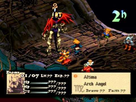 Final Fantasy Tactics End Boss No Orlandu YouTube