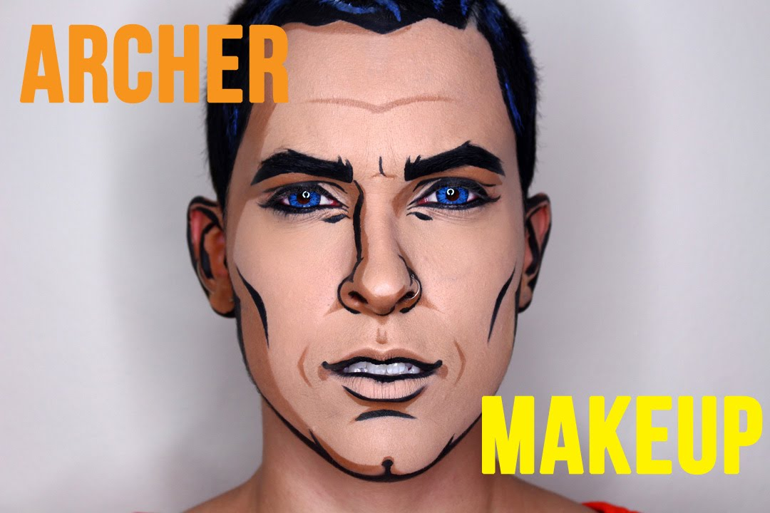 Pop Art Superman Makeup