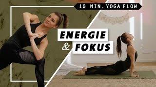 Yoga Flow für Energie, Konzentration & Selbstbewusstsein | schnell und effektiv | 10 Minuten
