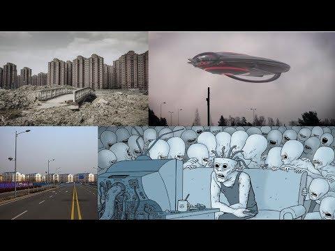 Китайские города призраки. НЛО. Зомбирование населения.