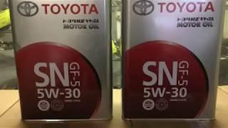 моторное масло Toyota 5w-30 Железная банка (как отличить подделку)