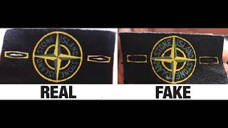 0458d5f9ab How To Spot Fake Stone Island Badges Authentic Vs Replica Comparison Real  Vs Fake