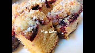 Polish Plum cake.  Drozdzowka ze Sliwkami .Episode #39