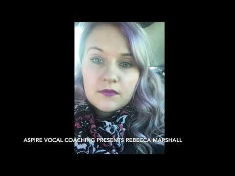REBECCA MARSHALL   SHE USED TO BE MINE   Aspire Vocal Coaching Cover Version