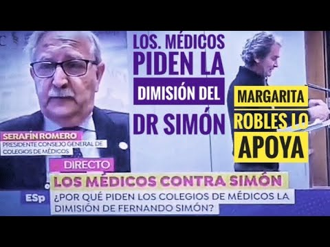 El Presidente del Consejo General de Colegios Médicos pide dimisión del dr Simón