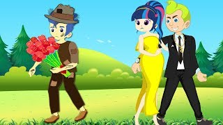 Equestria Girls Kids School cheatting Makeup Contest! Johny Johny Yes Papa Popular Kids Songs