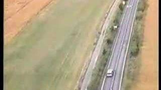 Thames Valley Police Motorcyclist - Helicopter view