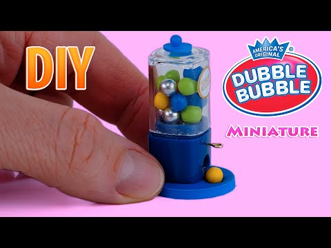 DIY How To Make A Mini Gumball Machine For Dollhouse - Tutorial