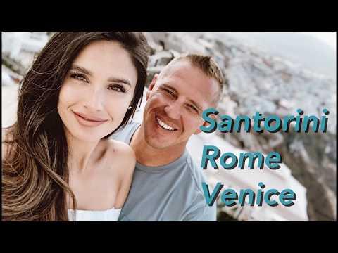 HONEYMOON TRAVEL VLOG: Santorini, Rome, Venice