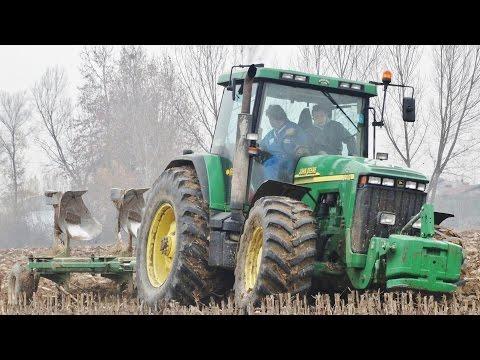 John Deere 8410 Plowing 45 cm depth | Trivomere De Franceschi