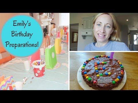 CHOCOLATE FRIDGE CAKE RECIPE | EMILY'S BIRTHDAY PREPARATIONS