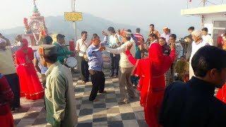 Pahari Band Baaje Aarti Dance at Maa Chaturbhuja Temple || H.P. Mandi || Joginder Nagar || Basahi