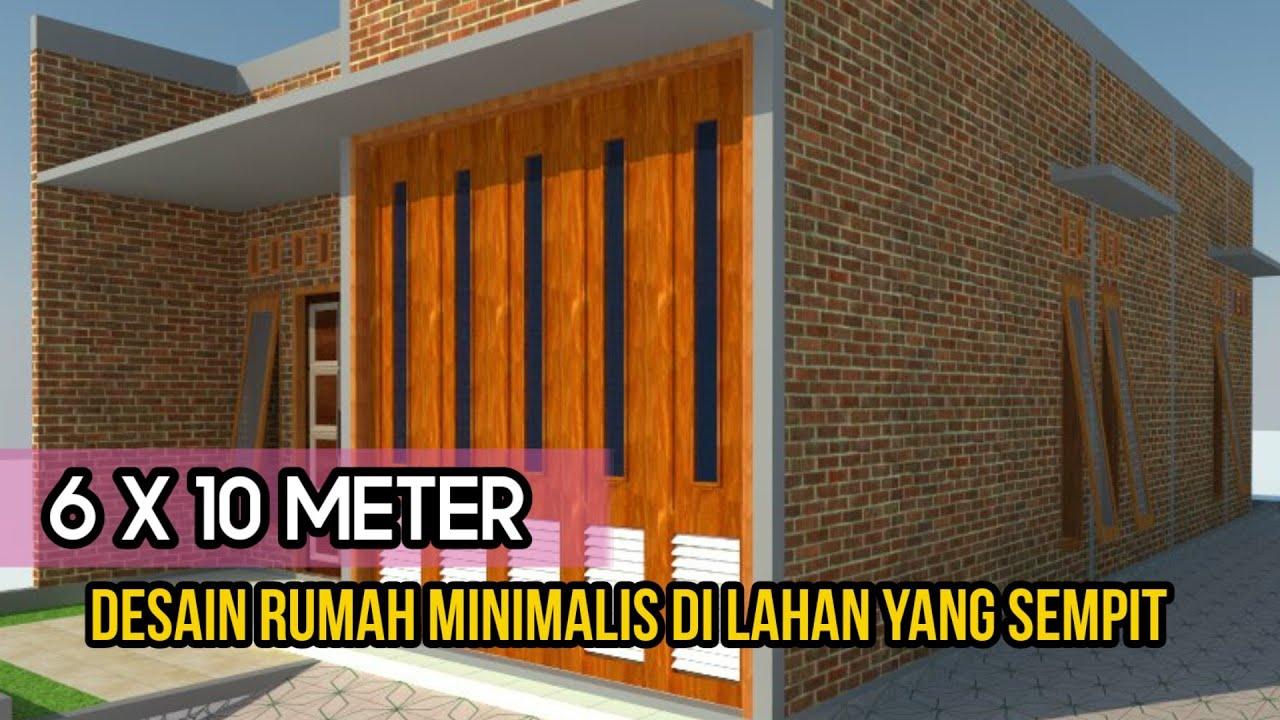 Desain Rumah Minimalis 6x10 Meter Atap Dak Cor Youtube Atap dak beton minimalis