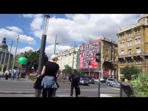 Cycling in Budapest : Id. Antall Jozsef rkp. _ Nador u. _ Deak Frenc u.