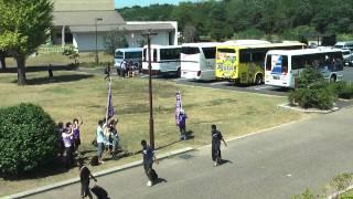 2010年9月4日サンフレッチェサポのバス待ち