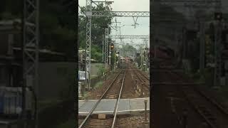 名鉄 名古屋本線 名鉄岐阜駅入線直前の単線区間
