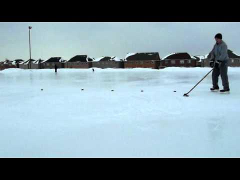 Stickhandling drills pt.3 - Outdoor rink in Aurora...