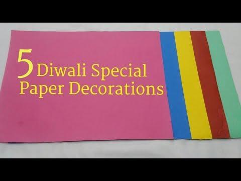 5 Easy Diwali Decorations Ideas   DIY Diwali Decoration at Home   Diwali Decoration Paper Craft