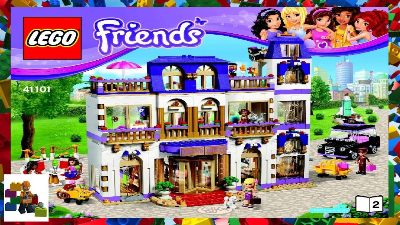 Lego Instructions Lego Friends 41101 Heartlake Grand Hotel Book