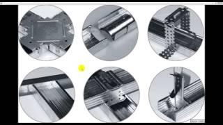 видео Виды профилей для гипсокартона и их размеры. Виды комплектующих и крепежных элементов