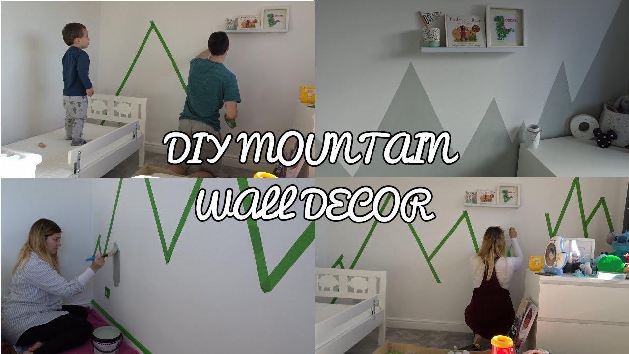 Diy Mountain Wall Decor Mural Toddler Room