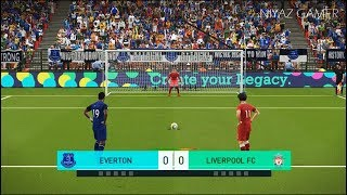 EVERTON vs LIVERPOOL FC | Penalty Shootout | PES 2018 Gameplay PC