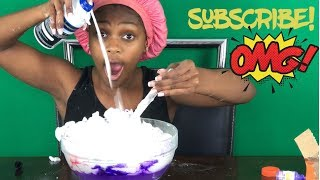 Must watch! Making explosion with salt vinegar and baking soda and with some slime!