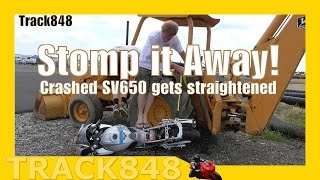 Crashed SV650 Gets Straightened-Motorcylce Stomping Time