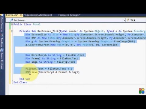 How To Make Screen Recorder Using Visual Basic 2010Michael Anwar