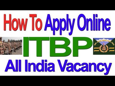 How to Apply Online| ITBP 303 Constable Recruitment 2017 | Govt Job