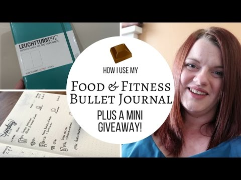 How I Use my Food & Fitness Bullet Journal • Bullet Journal for Weight Loss • Giveaway
