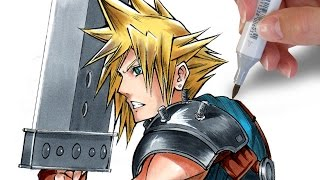 ✎ How to draw Cloud Strife