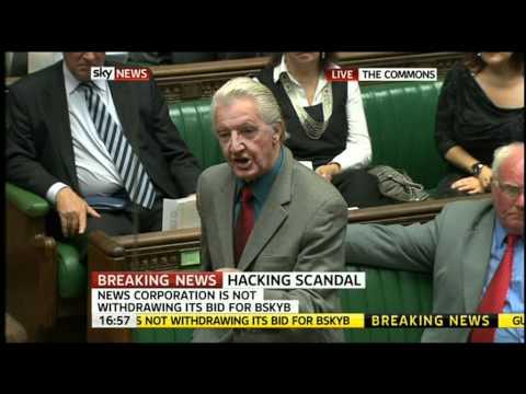 Dennis Skinner Gag in House Of Commons (11th July
