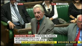 Dennis Skinner Gag in House Of Commons (11th July