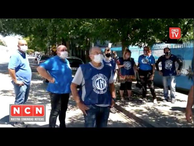 CINCO TV - Conflicto en el Club Banco Nacion: la CGT Zona Norte apoyo la continuidad del club