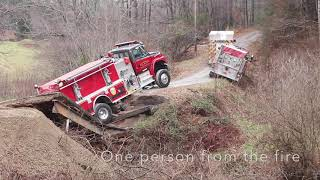 Bridge Collapse with Fire Truck