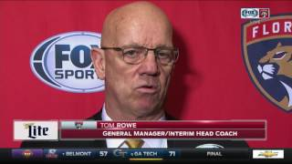 Tom Rowe -- Florida Panthers at Pittsburgh Penguins 03/19/2017