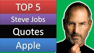 Top 5 Steve Jobs Quotes | Apple | Success | Investment | Motivational | Inspirational