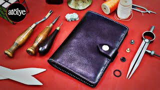 Notebook cover making | Leather notebook cover | Travel Accessories | making a travelers notebook