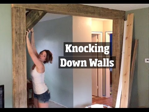 How to Update a 1950's Home- Removing Walls, Remodelingand Creating a DIY Open home floor plan
