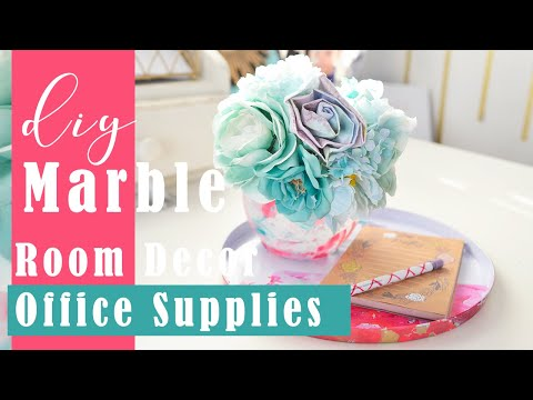 Spring DOLLAR TREE Room Decor - Marble Nail Polish DIY!!
