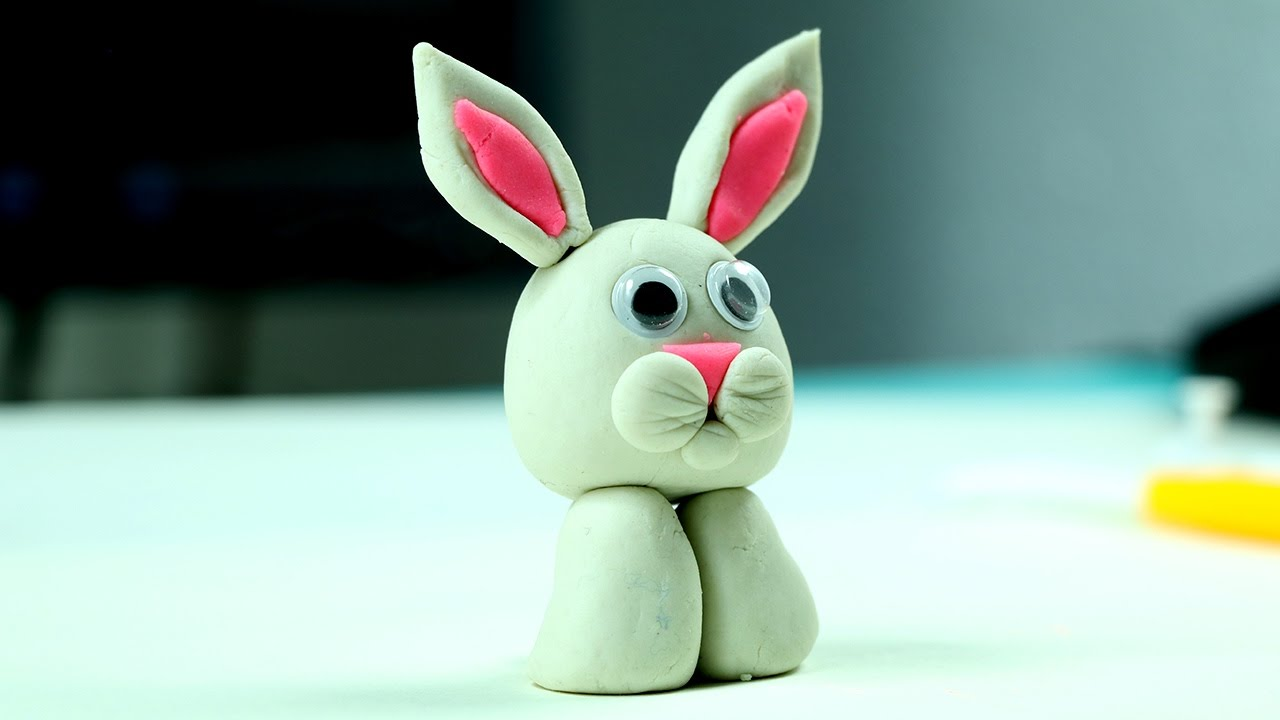 Play Doh Easter Bunny Easy Clay Modelling Craft For Kids Youtube