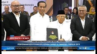 Detik-detik Jokowi-Ma'ruf Ditetapkan Pemenang Pilpres 2019 oleh KPU