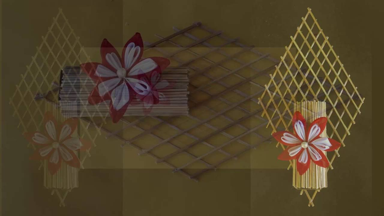 Sweeping Sticks Wall Decor Bamboo Sticks Wall Crafts By Srujanatv